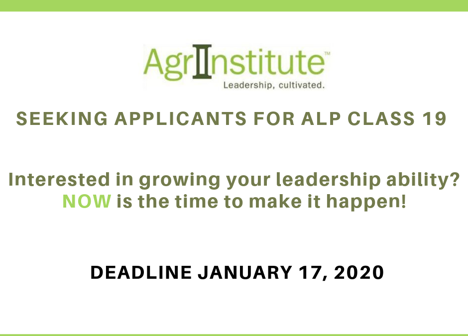 ALP Applications Due January 17, 2020